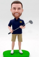 Custom bobblehead doll golf