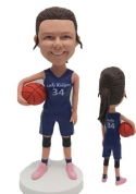 Custom basketball girl bobblehead with Ponytail