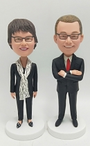2 custom bobbleheads bullk order different faces