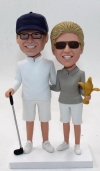 Golf theme couple bobbleheads